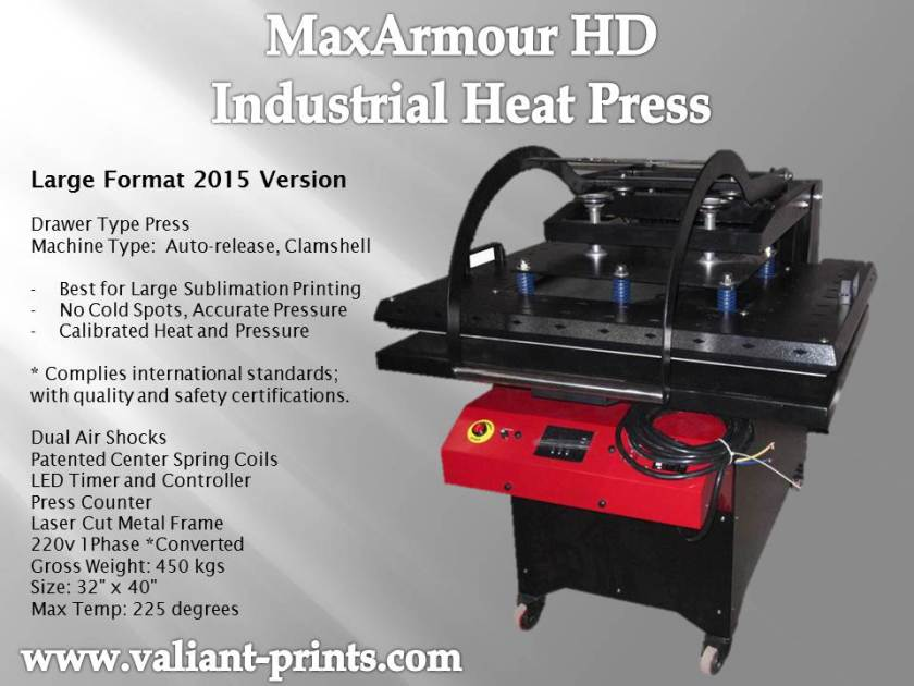 MaxArmour HD Industrial Heat Press