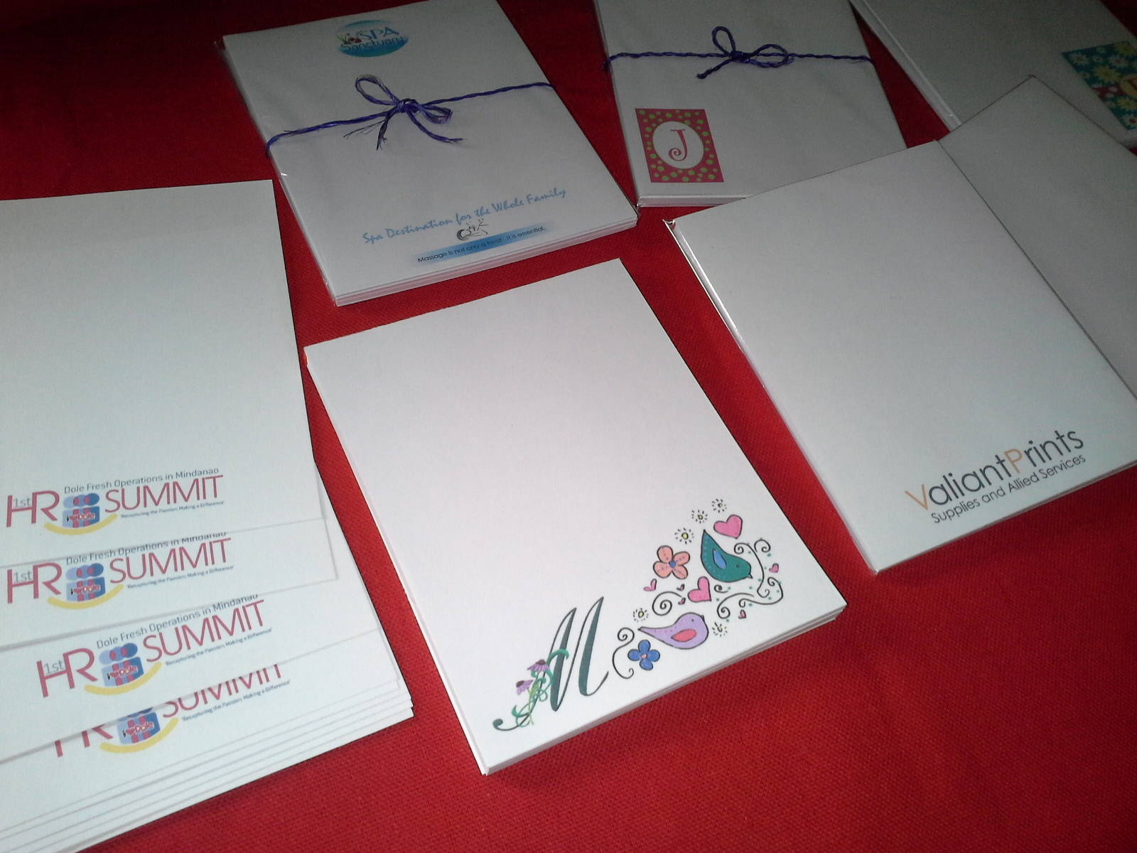 personalized notepads for corporate and event giveaways valiant prints