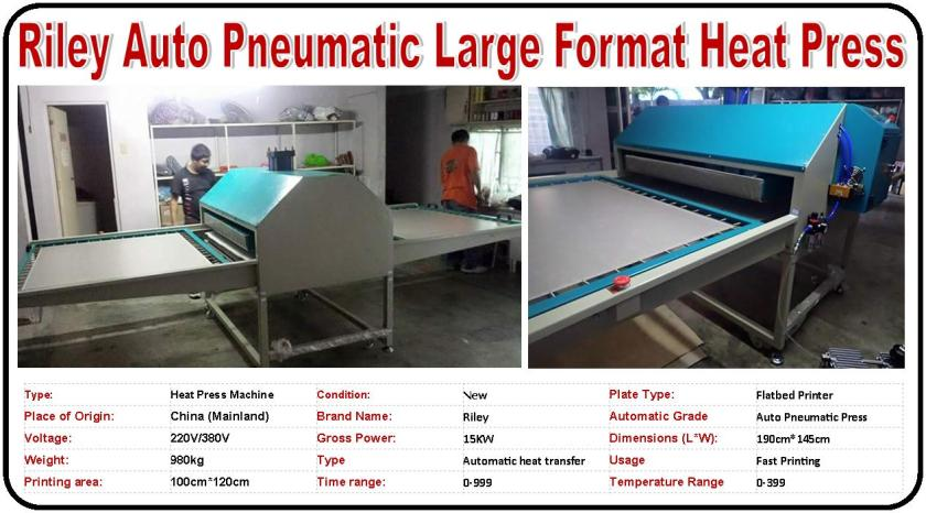 Riley Auto Pneumatic Large Format Heat Press